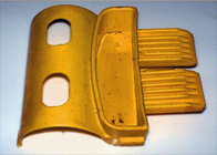 Replacement latch for plastic storage bin repairs
