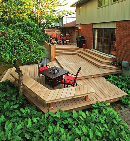 Recycled plastic lumber a durable alternative to wood for Alternative to decking